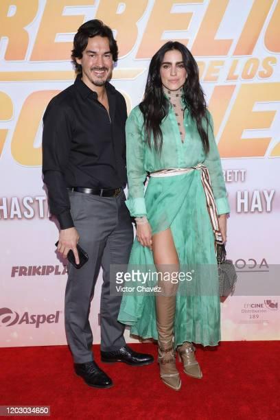 Fernando Schoenwald and Barbara de Regil attend La Rebelion de los Godinez Mexico City premiere red carpet at Cinepolis Plaza Carso on February 24...