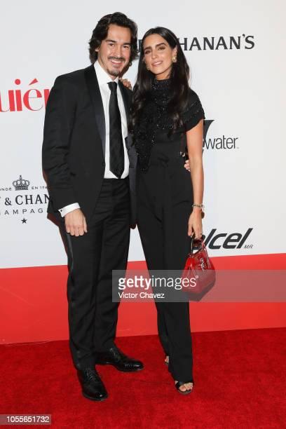 Fernando Schoenwald and Barbara de Regil attend Quien 50 Los Personajes Que Transforman A Mexico Red Carpet at Teatro Telmex on October 30 2018 in...