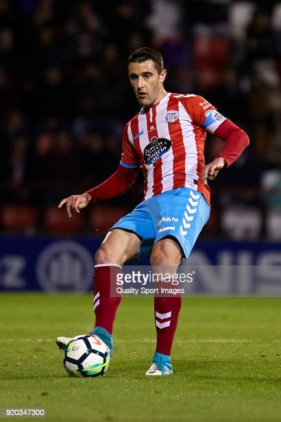 Fernando Seoane of CD Lugo in actionduring the La Liga 123 match between CD Lugo and FC Barcelona B at Angel Carro Stadium on February 18 2018 in...