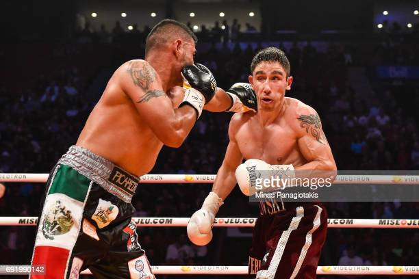 Fernando Silva punches Mikael Zewski during the Super Welterweight match at the Bell Centre on June 3 2017 in Montreal Quebec Canada