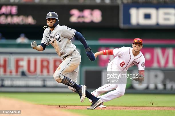 Fernando Tatis Jr #23 of the San Diego Padres runs the bases against the Washington Nationals at Nationals Park on April 28 2019 in Washington DC