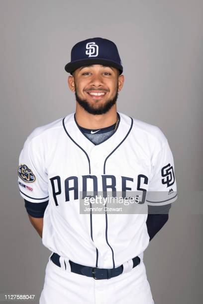 Fernando Tatis Jr #84 of the San Diego Padres poses during Photo Day on Thursday February 21 2019 at Peoria Stadium in Peoria Arizona