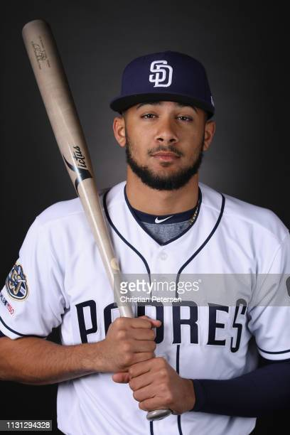 Fernando Tatis Jr #84 of the San Diego Padres poses for a portrait during photo day at Peoria Stadium on February 21 2019 in Peoria Arizona