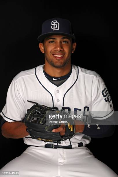 Fernando Tatis Jr #84 of the San Diego Padres poses on photo day during MLB Spring Training at Peoria Sports Complex on February 21 2018 in Peoria...