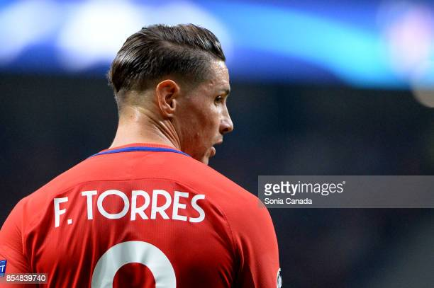 Fernando Torres #9 of Atletico de Madrid during the UEFA Champions League group C match between Club Atletico de Madrid and Chelsea FC at Wanda...
