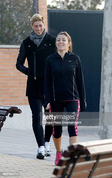 Fernando Torres and Olalla Dominguez are seen on February 12 2015 in Madrid Spain