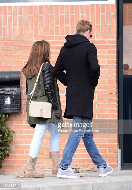 Fernando Torres and Olalla Dominguez are seen on February 5 2015 in Madrid Spain