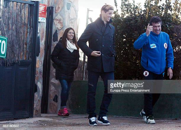 Fernando Torres and Olalla Dominguez are seen on January 22 2015 in Madrid Spain