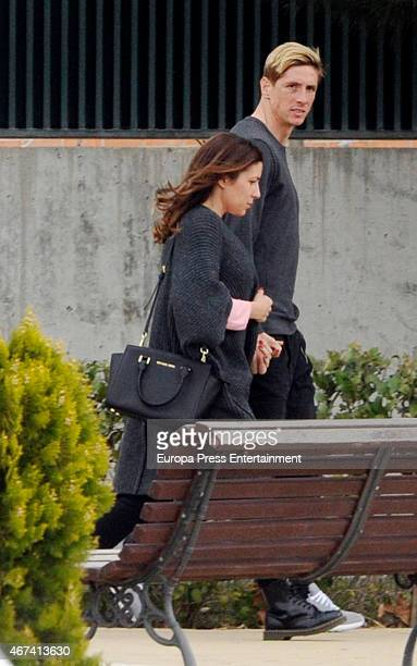 Fernando Torres and Olalla Dominguez are seen on March 20 2015 in Madrid Spain