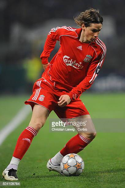 Fernando Torres during the 20072008 UEFA Champions League soccer match between Inter Milan and FC Liverpool