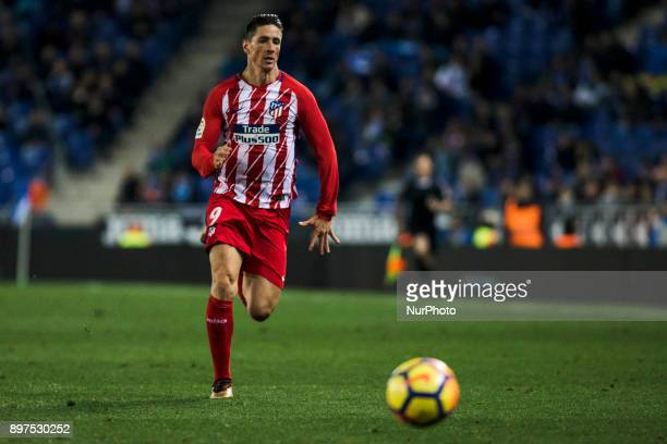 Fernando Torres from Spain of Atletico de Madrid during the match of La Liga Santander between RCD Espanyol v Atletico de Madrid at RCD Stadium in...