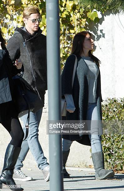 Fernando Torres, his wife Olalla Dominguez are seen on January 19, 2015 in Madrid, Spain.