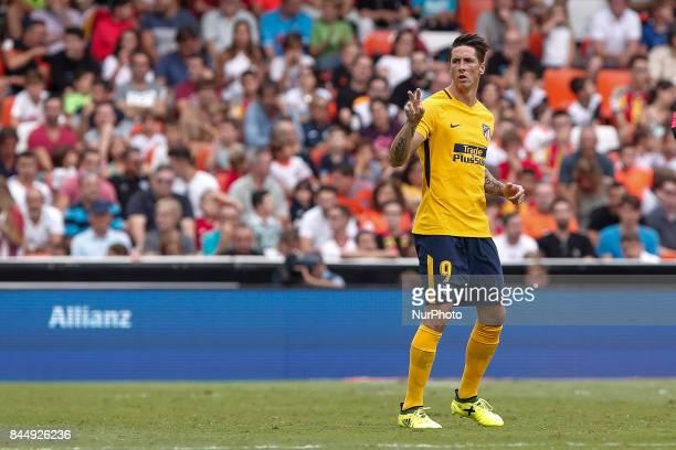 09 Fernando Torres of Atletico de Madrid during spanish La Liga match between Valencia CF vs Atletico de Madrid at Mestalla Stadium on September 09...