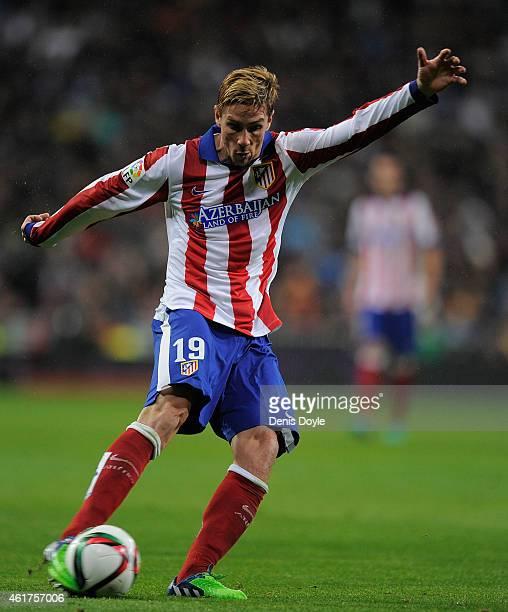 Fernando Torres of Atletico de Madrid in action during the Copa del Rey Round of 16 Second leg match between Real Madrid and Atletico de Madrid at...