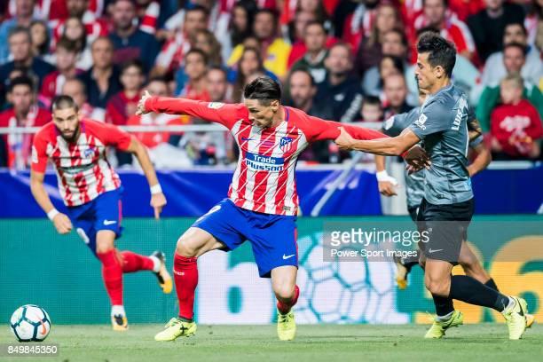 Fernando Torres of Atletico de Madrid in action during the La Liga 201718 match between Atletico de Madrid and Malaga CF at Wanda Metropolitano on 16...