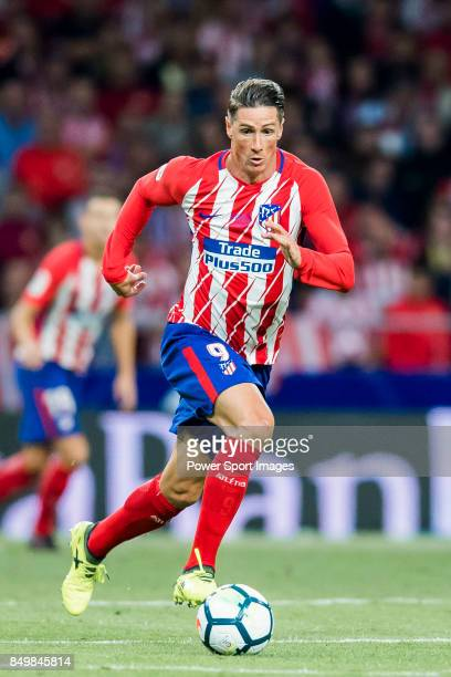 Fernando Torres of Atletico de Madrid in action during the La Liga 201718 match between Atletico de Madrid and Malaga CF at Wanda Metropolitano on 16...