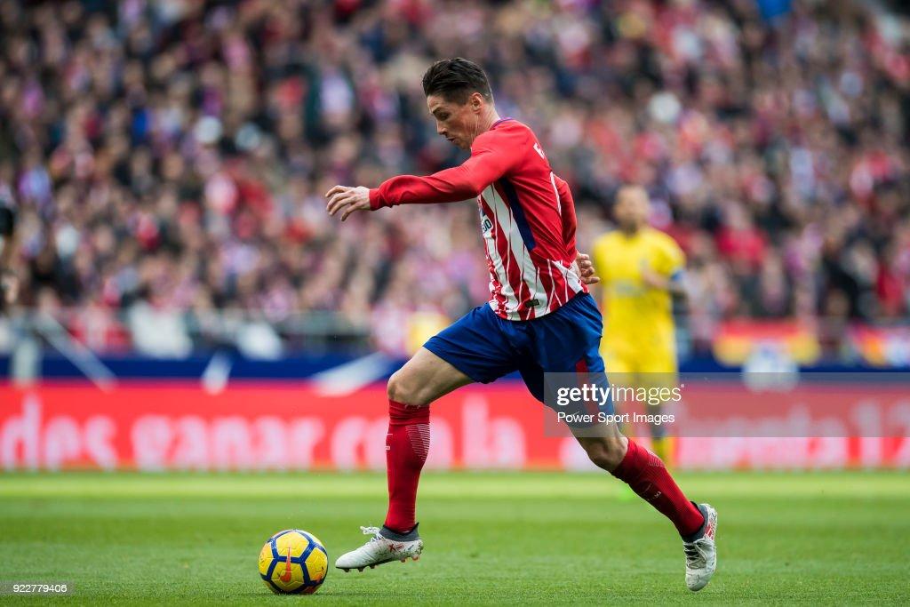 Fernando Torres of Atletico de Madrid in action during the La Liga 2017-18 match between Atletico de Madrid and UD Las Palmas at Wanda Metropolitano on January 28 2018 in Madrid, Spain.