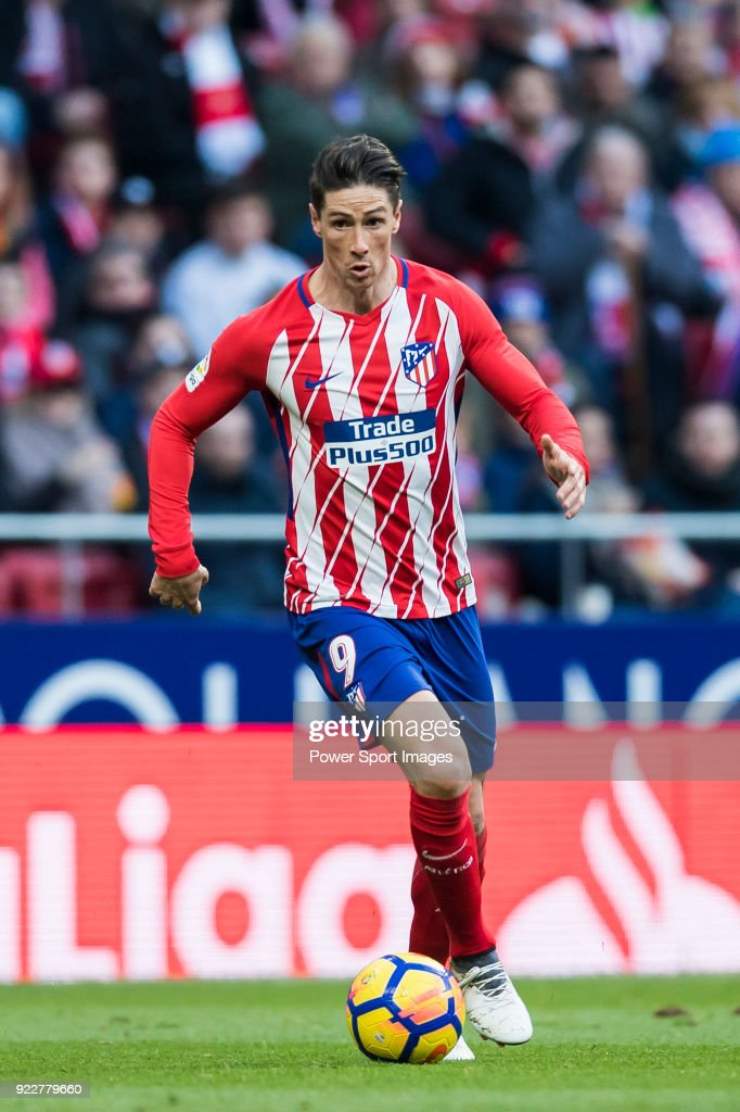 Fernando Torres of Atletico de Madrid in action during the La Liga 2017-18 match between Atletico de Madrid and UD Las Palmas at Wanda Metropolitano on January 28 2018 in Madrid, Spain.