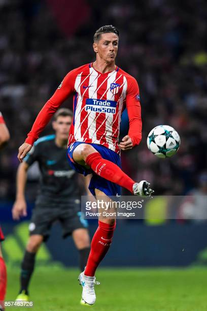 Fernando Torres of Atletico de Madrid in action during the UEFA Champions League 201718 match between Atletico de Madrid and Chelsea FC at the Wanda...