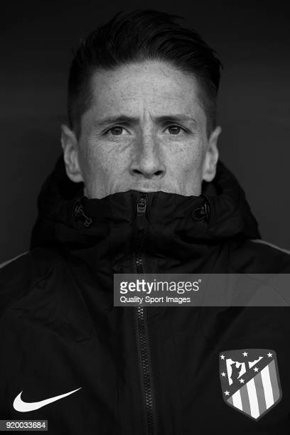 Fernando Torres of Atletico de Madrid looks on prior to the La Liga match between Atletico Madrid and Athletic Club at Wanda Metropolitano on...