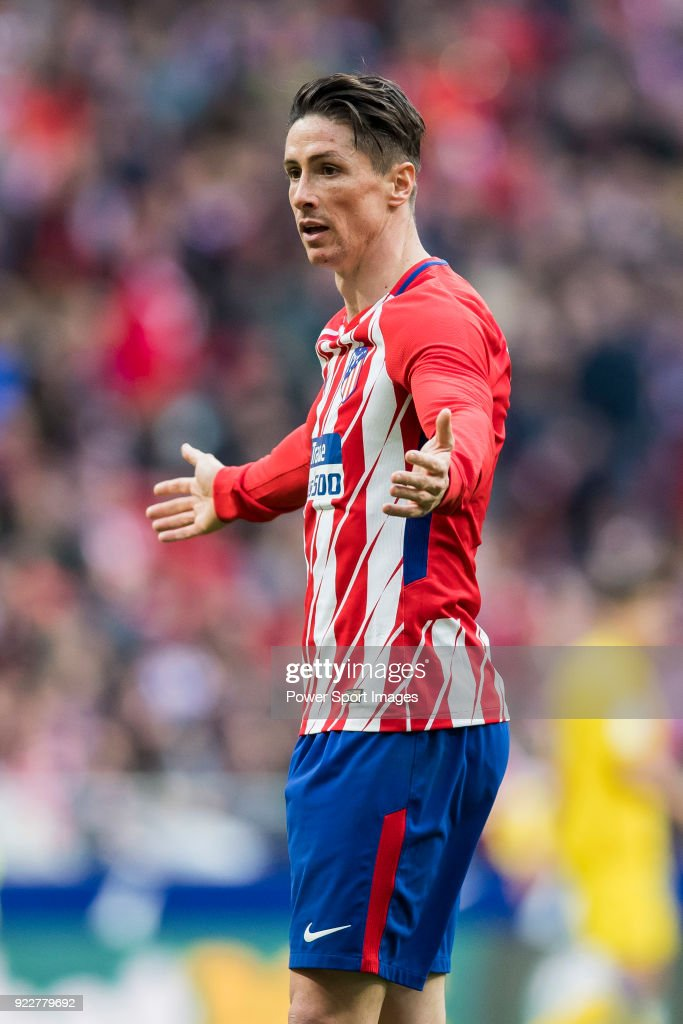 Fernando Torres of Atletico de Madrid reacts during the La Liga 2017-18 match between Atletico de Madrid and UD Las Palmas at Wanda Metropolitano on January 28 2018 in Madrid, Spain.