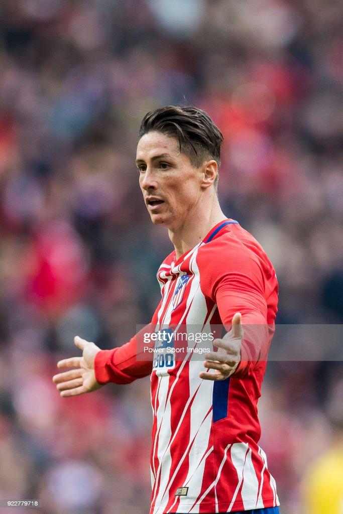 Fernando Torres of Atletico de Madrid reacts during the La Liga 2017-18 match between Atletico de Madrid and UD Las Palmas at Wanda Metropolitano on January 28 2018 in Madrid, Spain.