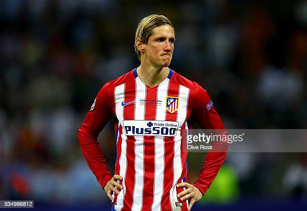 Fernando Torres of Atletico Madrid cries after losing the UEFA Champions League Final match between Real Madrid and Club Atletico de Madrid at Stadio...