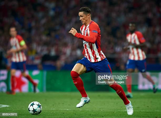 Fernando Torres of Atletico Madrid in action during the UEFA Champions League group C match between Atletico Madrid and Chelsea FC at Wanda...