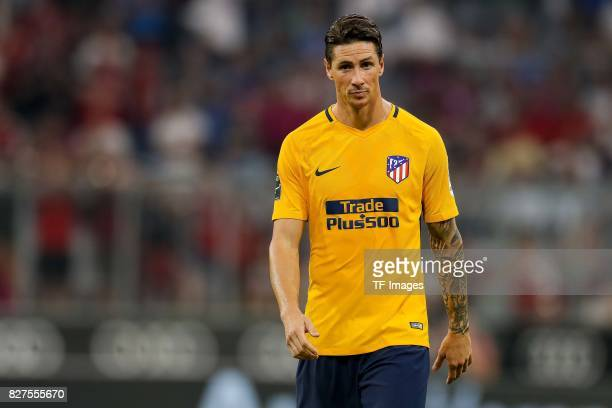 Fernando Torres of Atletico Madrid looks on during the Audi Cup 2017 match between Liverpool FC and Atletico Madrid at Allianz Arena on August 2 2017...