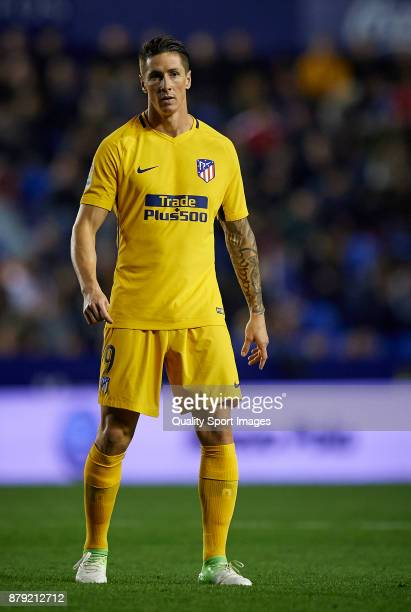 Fernando Torres of Atletico Madrid looks on during the La Liga match between Levante and Atletico Madrid at Ciutat de Valencia Stadium on November 25...