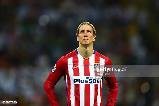 Fernando Torres of Atletico Madrid shows his dejection during the UEFA Champions League Final match between Real Madrid and Club Atletico de Madrid...