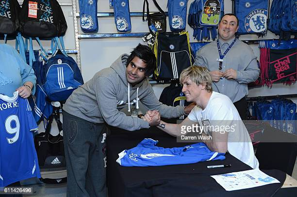 Fernando Torres of Chelsea during a Megastore signing session at the Stamford Bridge on April 13 2012 in London England