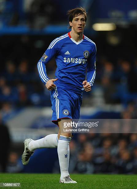 Fernando Torres of Chelsea in action during the Barclays Premier League match between Chelsea and Liverpool at Stamford Bridge on February 6 2011 in...