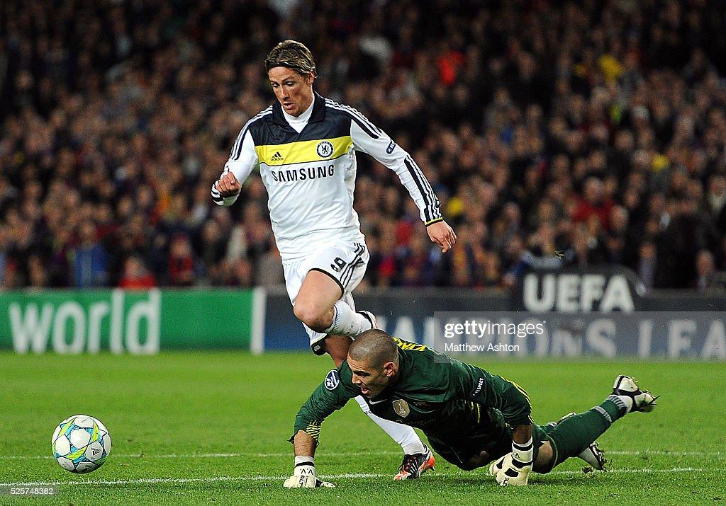 Soccer - UEFA Champions League Semifinal Second Leg - Barcelona vs. Chelsea : News Photo