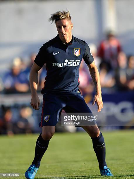 Fernando Torres of Club Atletico de Madrid looks on during the Jesus Gil y Gil Memorial preseason friendly match between Numancia and Club Atletico...