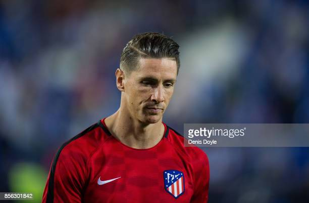Fernando Torres of Club Atletico de Madrid looks on during the La Liga match between Leganes and Atletico Madrid at Estadio Municipal de Butarque on...