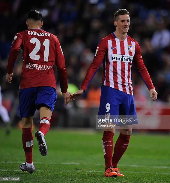 Fernando Torres of Club Atletico de Madrid lookson during the La Liga match between Club Atletico de Madrid and Real CD Espanyol at Vicente Calderon...