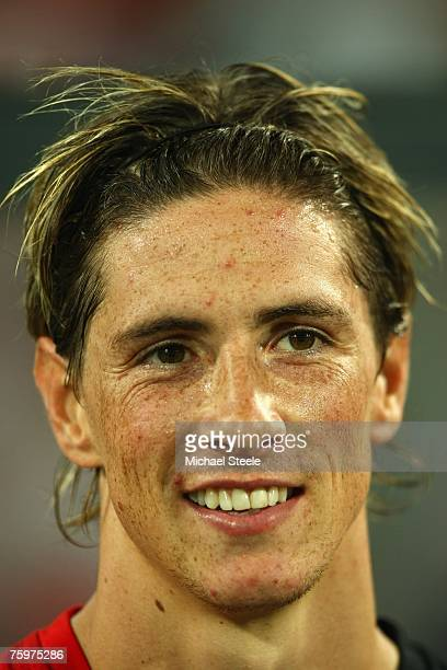 Fernando Torres of Liverpool after the Port of Rotterdam Tournament match between Feyenoord and Liverpool at the De Kuip Stadium on August 52007 in...