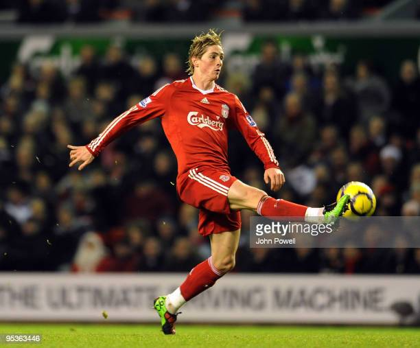 Fernando Torres of Liverpool during the Barclays Premier League match between Liverpool and Wolverhampton Wanderers at Anfield on December 26, 2009...