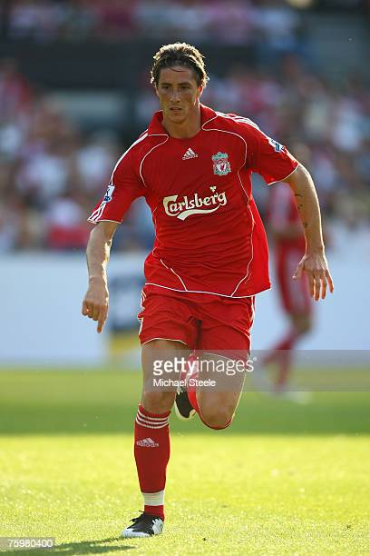 Fernando Torres of Liverpool during the Port of Rotterdam Tournament match between Liverpool and Shanghai Shenhua FC at the De Kuip Stadium on August...