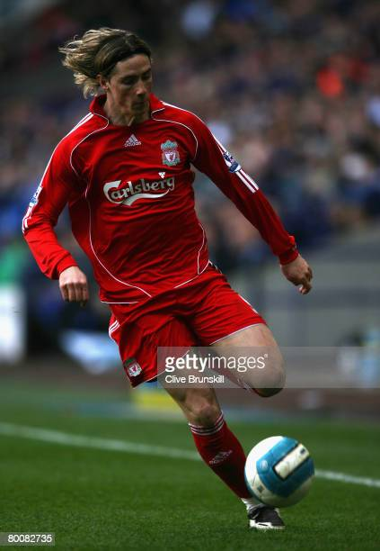 Fernando Torres of Liverpool in action during the Barclays Premier League match between Bolton Wanderers and Liverpool at The Reebok Stadium on March...