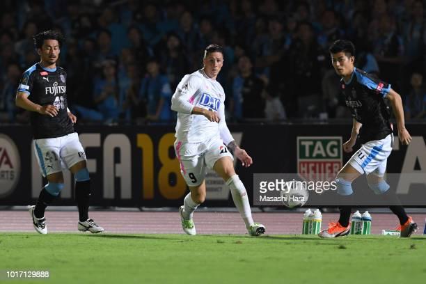 Fernando Torres of Sagan Tosu in action during the JLeague J1 match between Kawasaki Frontale and Sagan Tosu at Todoroki Stadium on August 15 2018 in...
