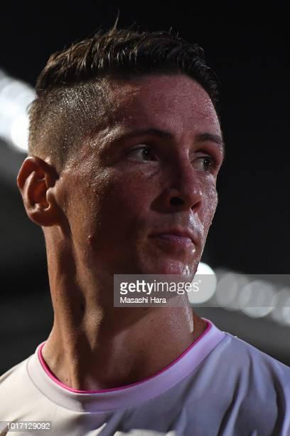 Fernando Torres of Sagan Tosu looks on during the JLeague J1 match between Kawasaki Frontale and Sagan Tosu at Todoroki Stadium on August 15 2018 in...