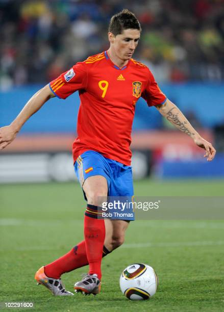 Fernando Torres of Spain during the 2010 FIFA World Cup South Africa Group H match between Spain and Honduras at Ellis Park Stadium on June 21 2010...