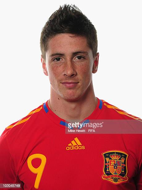 Fernando Torres of Spain poses during the official Fifa World Cup 2010 portrait session on June 13 2010 in Potchefstroom South Africa