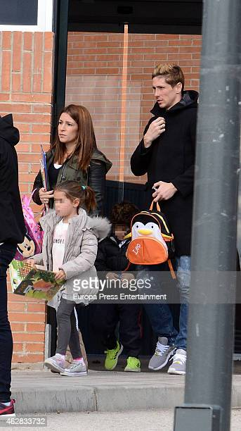 Fernando Torres Olalla Dominguez and their daughter Nora Torres are seen on February 5 2015 in Madrid Spain