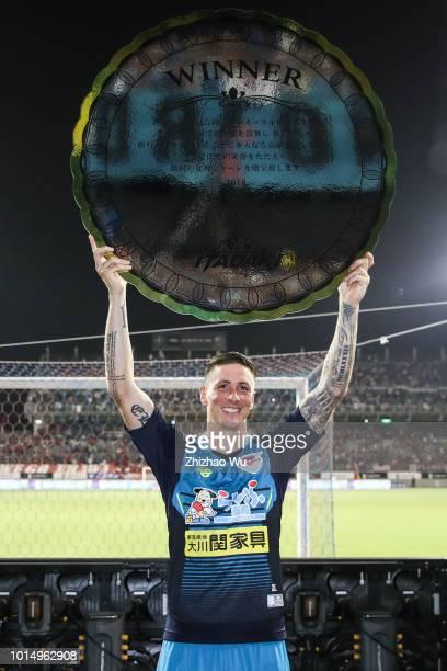 Fernando Torres poses after the JLeague J1 match between Sagan Tosu and Urawa Red Diamonds at Best Amenity Stadium on August 11 2018 in Tosu Saga...