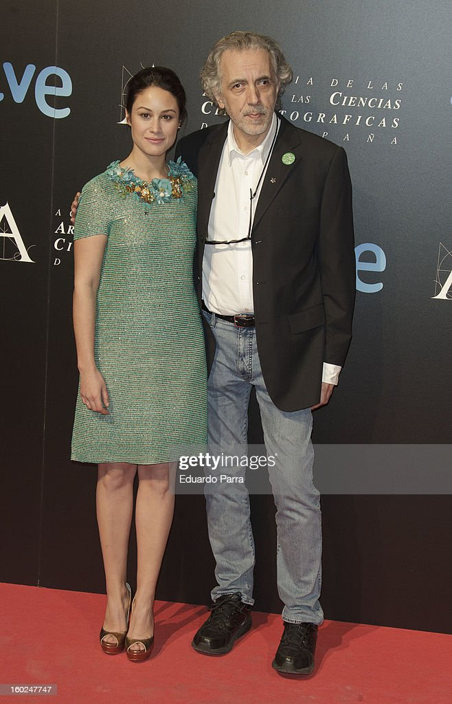 Fernando Trueba and Aida Folch attend Goya awards final candidates party photocall at El Canal theatre on January 28, 2013 in Madrid, Spain.