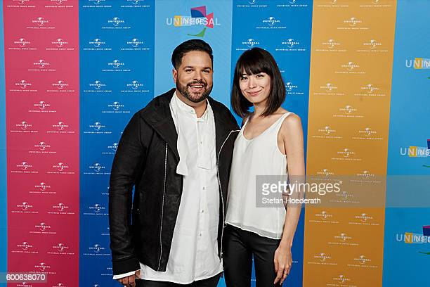 Fernando Varela and pianist Alice Sara Ott pose for a photo during Universal Inside 2016 organized by Universal Music Group at MercedesBenz Arena on...