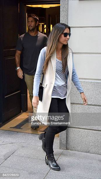 Fernando Verdasco and Ana Boyer are seen on May 4 2016 in Madrid Spain